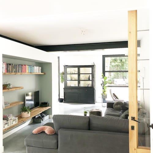 Furniture by Robuust Maatwerk seen at Private Residence, Geleen - Barnwood Wall Shelves
