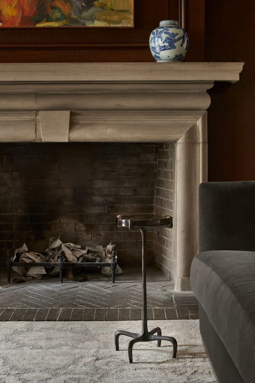 Tables by Antu-Made seen at Private Residence, Chicago - Claw Sleek Bronze Glass