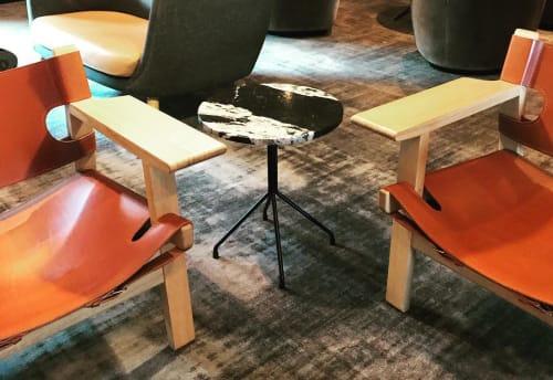 Tables by Dennis Marquart seen at Comwell Kongebrogaarden, Middelfart - Allforone Table