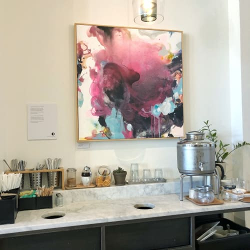 Paintings by Nino Yuniardi seen at Miro Tea, Seattle - Keeps me afloat