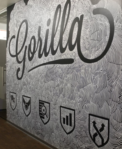 Murals by Jesse Hora seen at Chicago, Chicago - Gorilla Chicago Office Mural