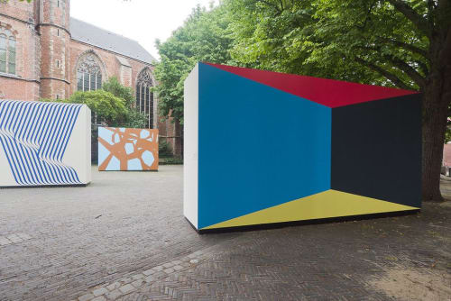 Public Art by Brent Hallard seen at Museum De Lakenhal, Leiden - Architectural Butterfly