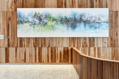 Murals by Shane + Peter Allbritton seen at Private Residence, Austin - Breathe of Nature