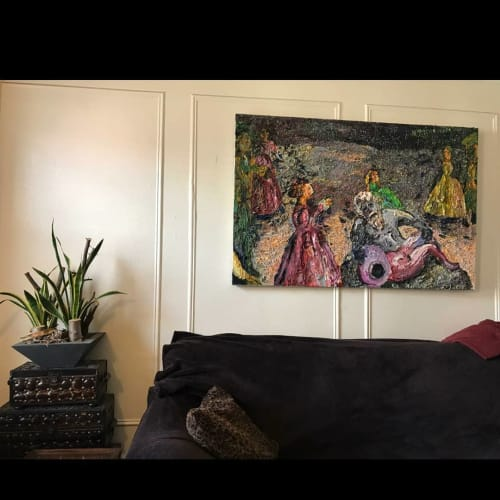 Paintings by Sarah Schechter seen at Private Residence, New York - Dance of shame