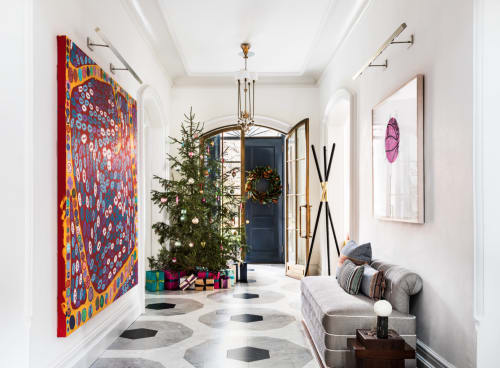 Interior Design by Atacama Home seen at Private Residence, Palisades - Sara Story's Hudson Valley Holiday Home