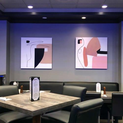 Art Curation by Tana Lynn seen at Medley's Grill, North Vancouver - Holiday Inn