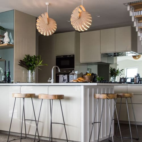 Pendants by Designtree seen at Private Residence, Wellington - Nautilus Lampshade