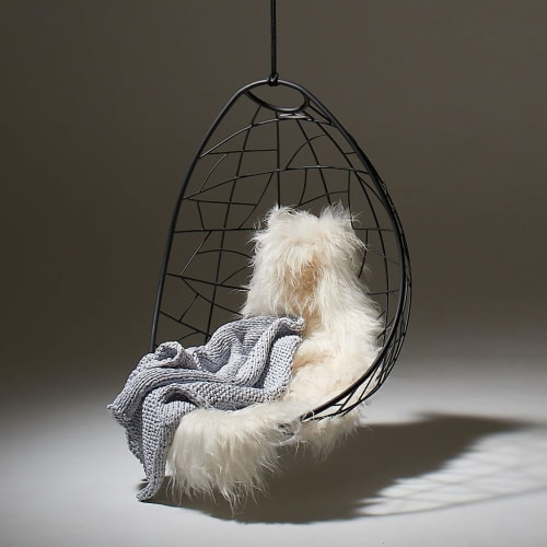 Nest Egg - Twig Pattern - Snow and Ice | Chairs by Studio Stirling
