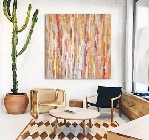 Paintings by Linnea Heide contemporary fine art seen at Asheville, Asheville - 'DESERT WiND' original abstract painting by Linnea Heide