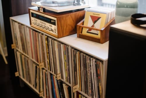 Furniture by Koeppel Design seen at Private Residence, Pittsburgh - A-Z Wood Record Dividers, 6 panel stencil set