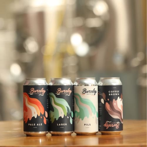 Signage by Studio Mimi Moon seen at Burnley Brewing, Richmond - Packaging Design