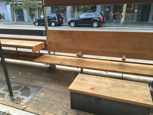 Furniture by Jeff Burwell seen at Dandelion Chocolate, San Francisco - Parklet