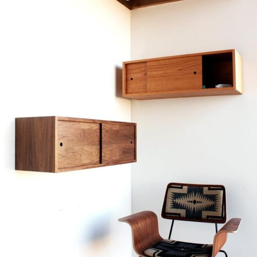 Furniture by ONEFORTYTHREE seen at Private Residence, Henderson - Wall Storage Cabinet