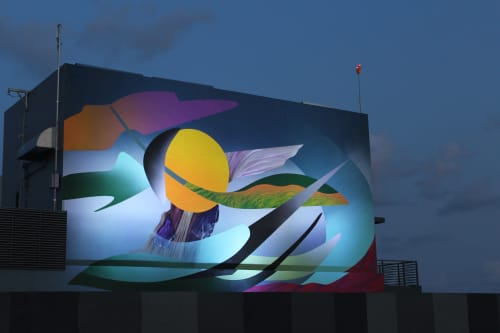 Murals by Muta Vision seen at Private Residence, Miami - Natures playing blocks
