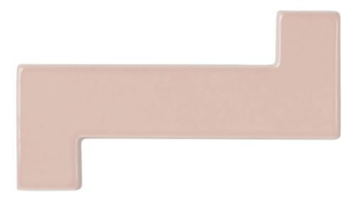 "Tiles by PIETTA DONOVAN seen at Walker Zanger Tile & Stone, New York - The Pietta Donovan Collection- ""Zed & Brick"" Handmade Ceramic tile at Walker Zanger"