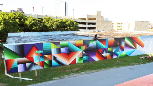 Street Murals by Nathan Brown seen at Barista Parlor Golden Sound, Nashville - Barista Parlour mural