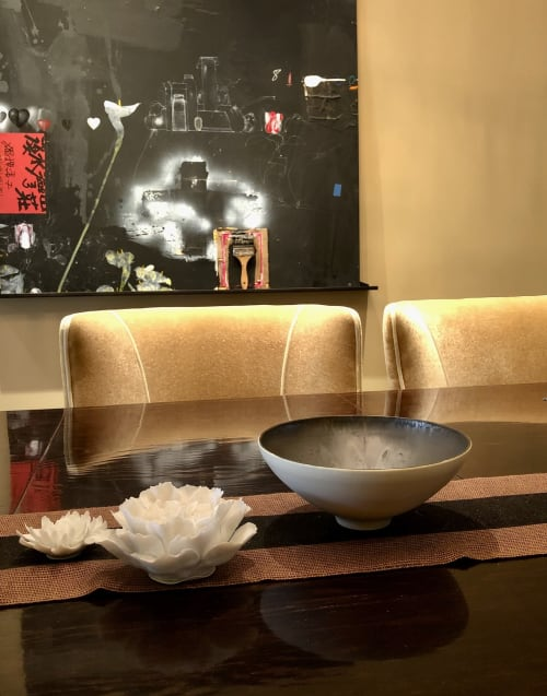 Art & Wall Decor by Lisa Fleming Ceramics seen at Private Residence, Los Angeles - Bronze Satin Matte Bowl