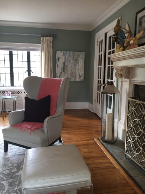 """Paintings by Benna Holden seen at Private Residence - Ridgefield, NJ, Ridgefield - """"Color Within Painting"""""""