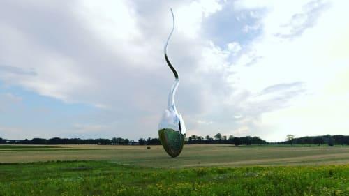 Public Sculptures by Linda Bakke Productions seen at Stange, Stange - Sperm / germ