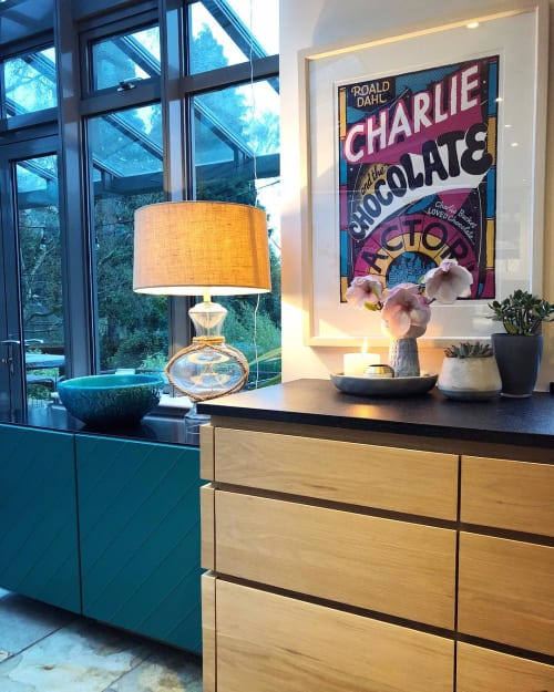 Art & Wall Decor by Andy Smith seen at Private Residence, Leeds - Charlie and the Chocolate Factory print