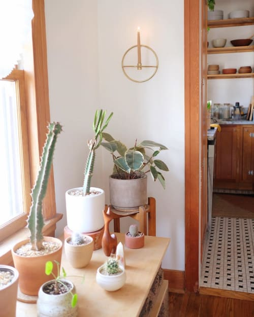Wall Hangings by Holistic Habitat seen at Kristine Claghorn's Home, Los Angeles - Taper Candle Holder