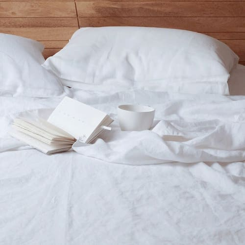Linens & Bedding by Rough Linen seen at Rough Linen, San Rafael - Smooth White Linen