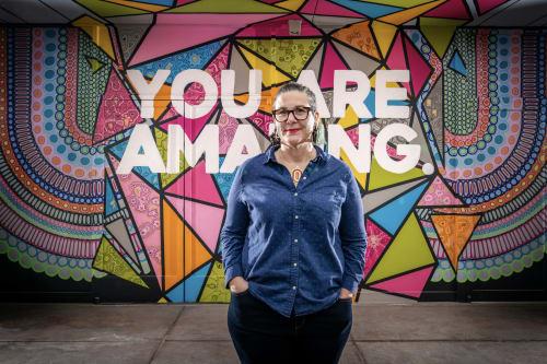 Street Murals by Jayarr Steiner seen at Adams Street Garage, Phoenix - EMBRACING THE AMAZING YOU