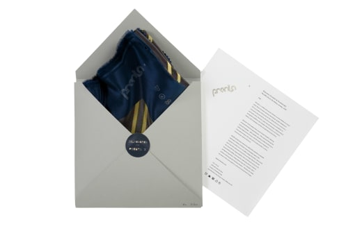 Apparel & Accessories by Prenta X seen at Melbourne, Melbourne - Zilverster ( Goodwin & Hanenbergh) for Prenta X | Silk Scarf