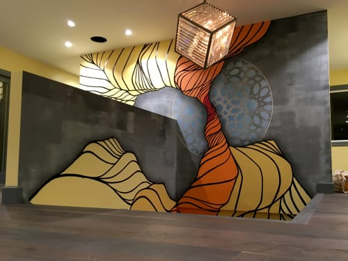 Murals by Strider Patton seen at Private Residence - Interior Flow