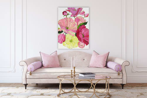 Paintings by Kristin Cooney seen at Private Residence, Columbia - Blooms of Eden