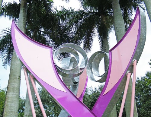 Public Sculptures by Gus Lina Fine Art seen at 200 US-1, Jupiter - Orchid