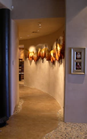 Wall Hangings by Metallic Strands seen at Private Residence in Scottsdale, AZ, Scottsdale - Metallic Flow