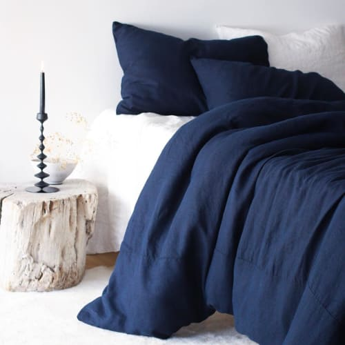 Linens & Bedding by Rough Linen seen at Rough Linen, San Rafael - St. Barts Duvet Cover