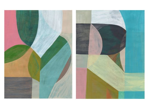 Paintings by Rebekah Andrade - Diptych Mind Map 1