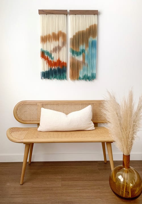 Wall Hangings by Kait Hurley Art seen at Private Residence, Los Angeles - Desert Days