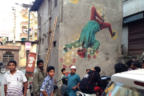 Murals by Miles Toland seen at Pune, Pune - Better Call Saul Artwork Based on Mural
