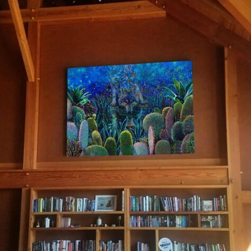 "Paintings by Iris Scott seen at Private Residence, Denver - ""Lobo Sirocco"""