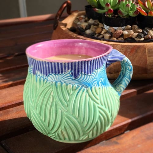 Cups by Annie Chrietzberg seen at Private Residence, Bend - Ceramic Cup