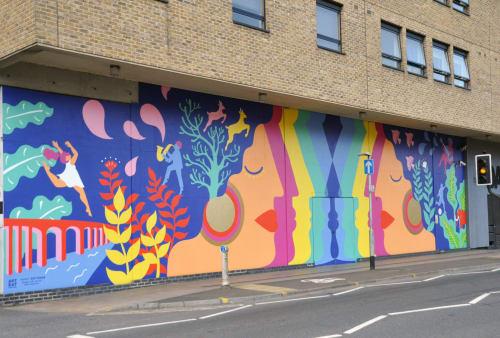 Street Murals by Zoe Power seen at Ipswich, Ipswich - Ipswich Mural