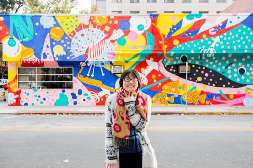 Murals by Harumo Sato seen at Dac Phuc Vietnamese Cuisine, San Jose - Dac Phuc Restaurant Mural