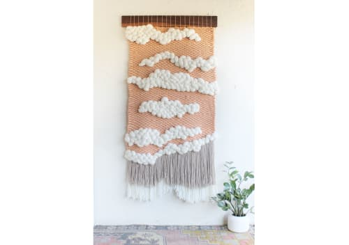 Wall Hangings by Keyaiira | leather + fiber seen at Fiber Circle Studio, Cotati - Counting Sheep