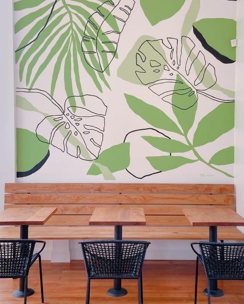 Murals by Fernanda Martinez - LA TINTA at Palm Acai Cafe, San Francisco - Palm Acai Cafe (San Francisco) Mural