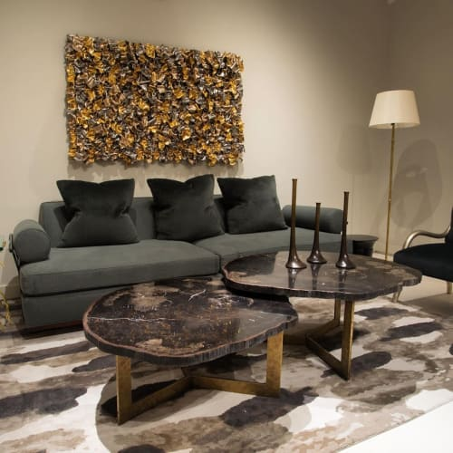 Tables by Ron Dier Design seen at Santa Ana, Santa Ana - Black Petrified Wood Table