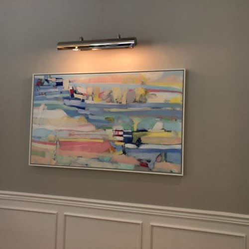 Paintings by Elizabeth Nagle seen at Private Residence, Larchmont - Longest Days
