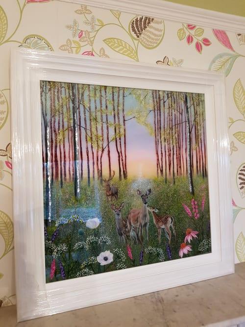Paintings by Carolina Arbuthnot seen at Nova Fine Art, Leamington Spa - Family Protection