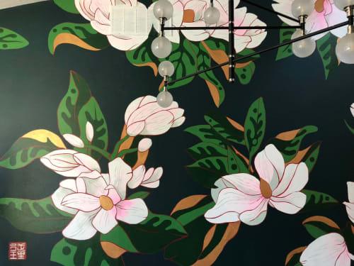 Big Floral Face Mural: Interior Drywall | Murals by JUURI