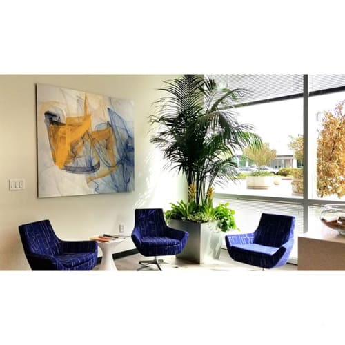 Art & Wall Decor by Rica Belna seen at Private Residence, Roseville - Spacewarp art at PZSE Structural Engineers