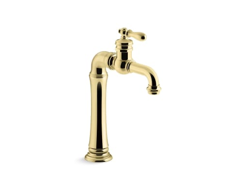 Water Fixtures by Kohler seen at SF Decorator Showcase 2019, San Francisco - Artifacts Gentleman's Bar Sink Faucet and Whitehaven Under-Mount Sink with Tall Apron