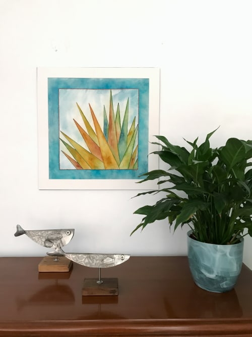 Paintings by Laila Vazquez seen at Creator's Studio, Mexico City - Light Beams