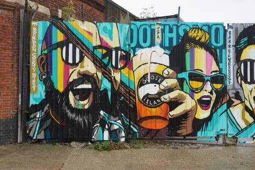 Street Murals by JAY KAES - Goose Island Block Party 2018